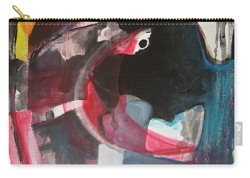 Abstract Paintings Paintings Abstract Art Paintings Carry-all Pouch featuring the painting Fumbling With Memory by Seon-Jeong Kim