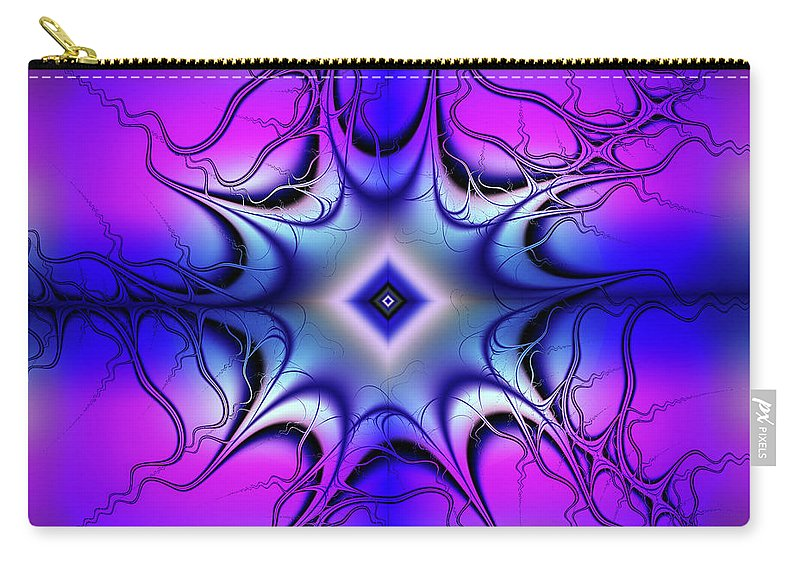 Fractal Carry-all Pouch featuring the digital art Fun Colors by Debra Martelli