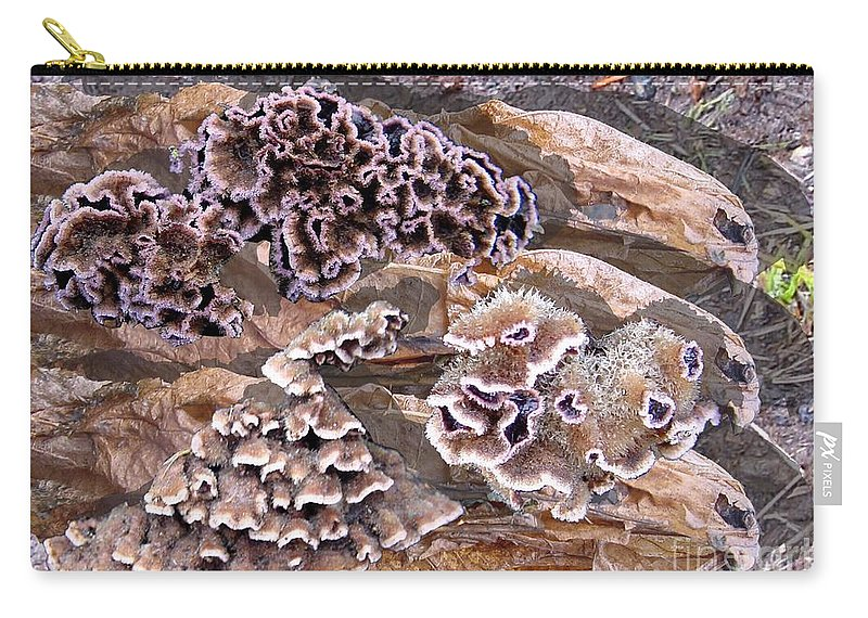 Fungi Art Carry-all Pouch featuring the digital art Fun Guy by Ron Bissett