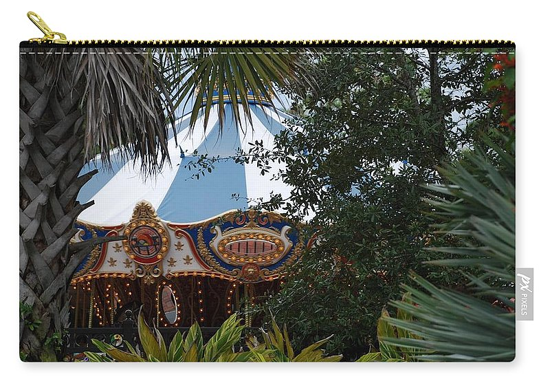 Architecture Carry-all Pouch featuring the photograph Fun Thru The Trees by Rob Hans