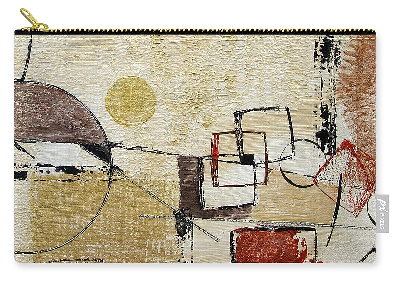 Abstract Carry-all Pouch featuring the painting Fun With Shapes by Ruth Palmer