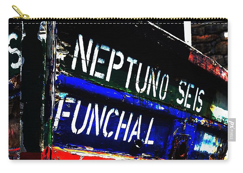 Mark J Dunn Carry-all Pouch featuring the photograph Funchal by Mark J Dunn