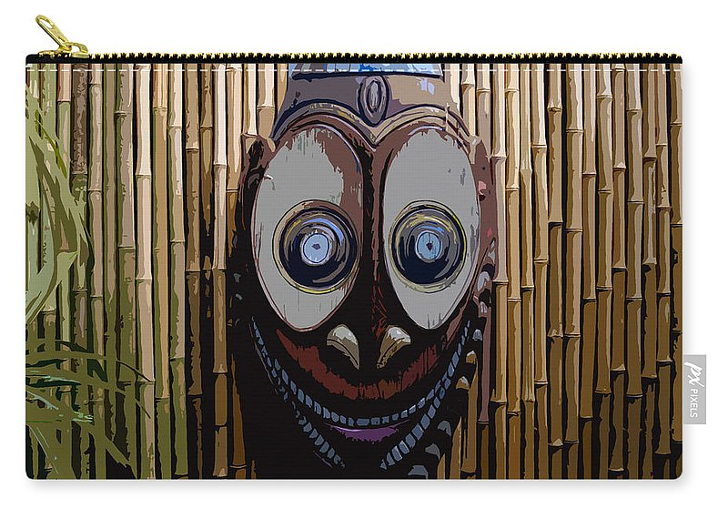 Funny Carry-all Pouch featuring the digital art Funny Face by David Lee Thompson