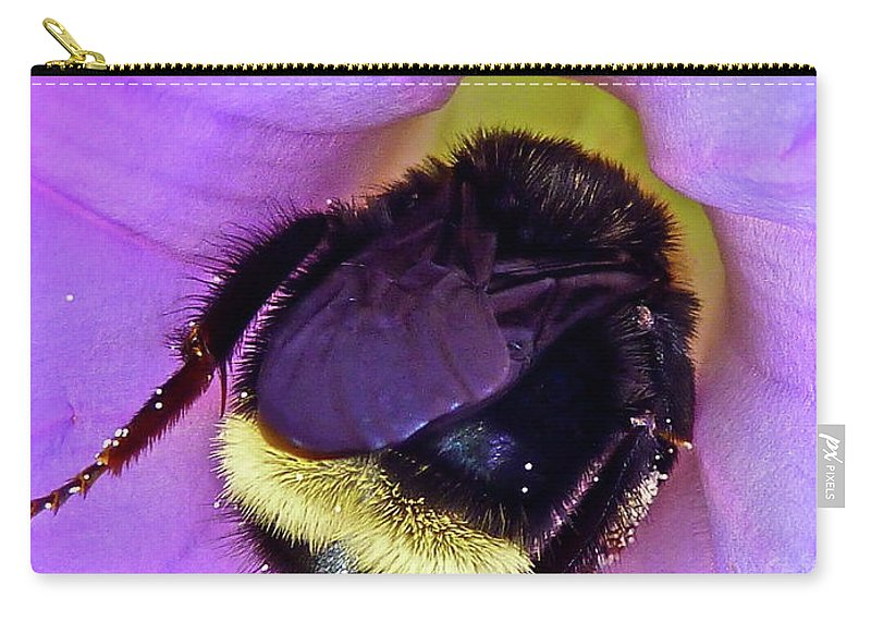 Insect Carry-all Pouch featuring the photograph Fur Skirt by Diana Hatcher