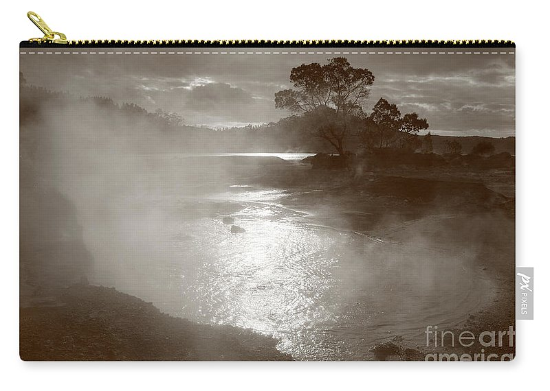 Furnas Carry-all Pouch featuring the photograph Furnas Hotsprings by Gaspar Avila