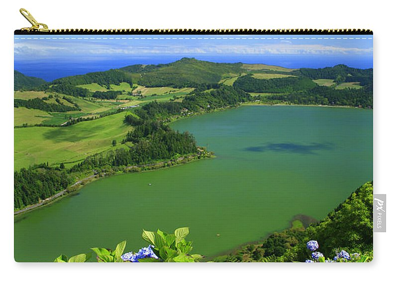 Azores Carry-all Pouch featuring the photograph Furnas Lake by Gaspar Avila