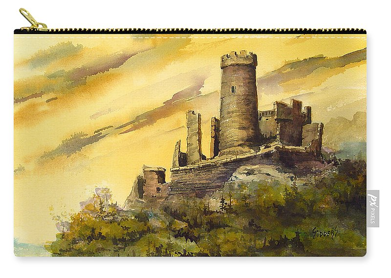 Castle Carry-all Pouch featuring the painting Furstenburg On The Rhine by Sam Sidders