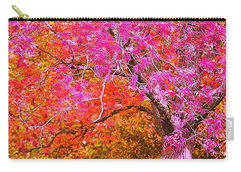 Fuschia Carry-all Pouch featuring the photograph Fuschia Tree by Nadine Rippelmeyer