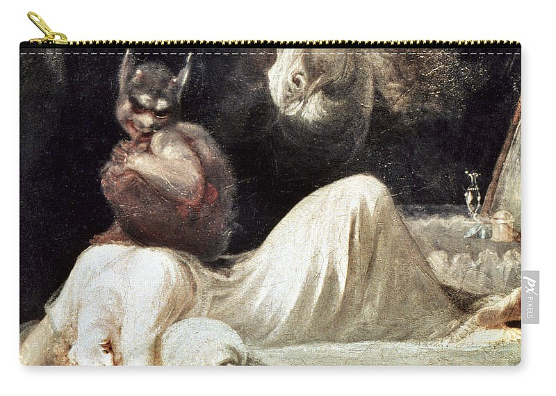1781 Carry-all Pouch featuring the photograph Fuseli: Nightmare, 1781 by Granger