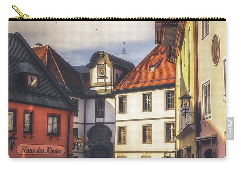 6x4 Carry-all Pouch featuring the photograph Fussen In The Morning by Chris Fletcher