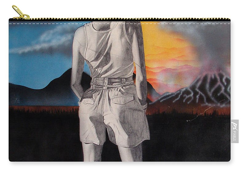 Shaun Carry-all Pouch featuring the painting Future by Shaun McNicholas