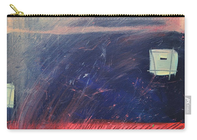 Red Carry-all Pouch featuring the painting Fyr Bal by Tim Nyberg