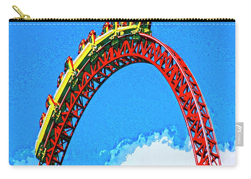 G-force Carry-all Pouch featuring the mixed media G Force by Dominic Piperata