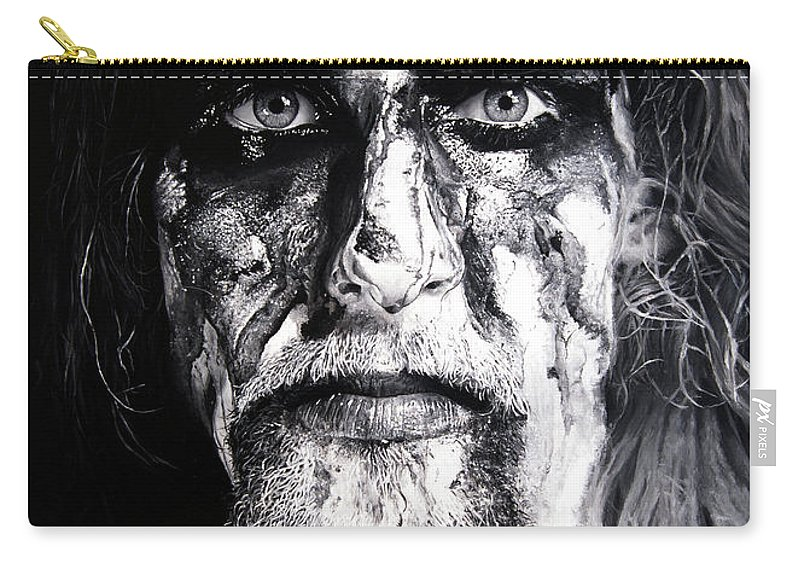 Gaahl Carry-all Pouch featuring the painting Gaahl by Christian Klute