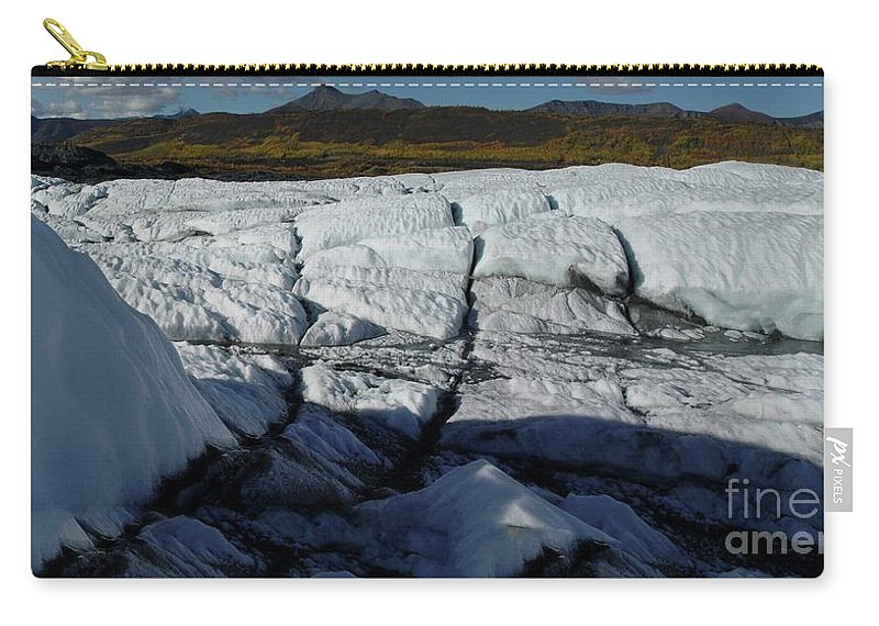 Glacier Carry-all Pouch featuring the photograph Gacier Contrasts by Ron Bissett