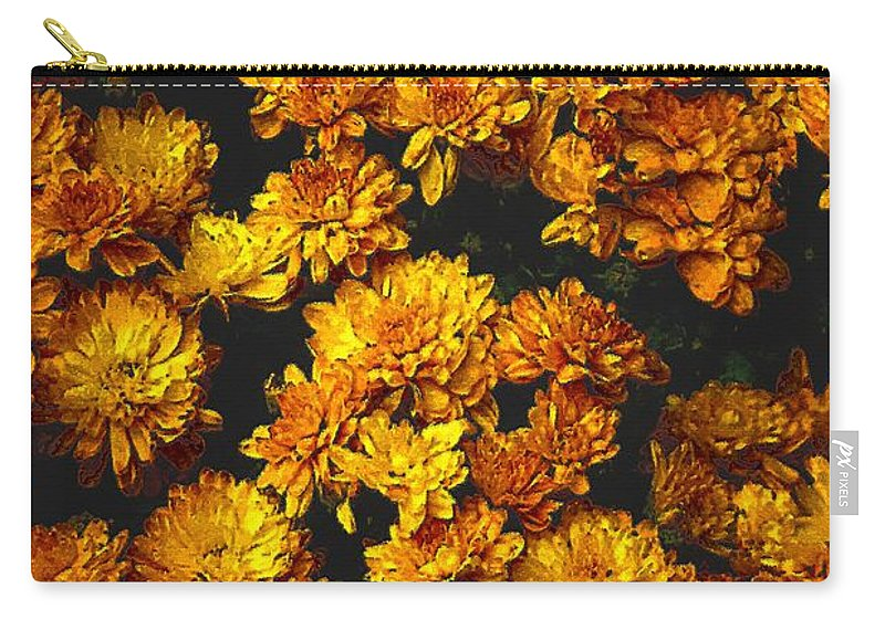 Autumn Carry-all Pouch featuring the painting Gaia's Gold by RC DeWinter