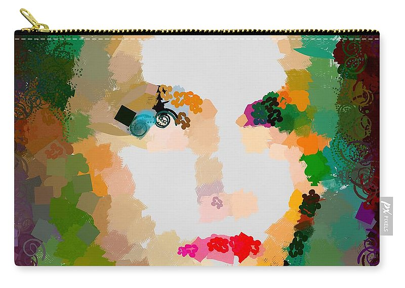 Gal Hotty Totty Carry-all Pouch featuring the digital art Gal Hotty Totty by Catherine Lott