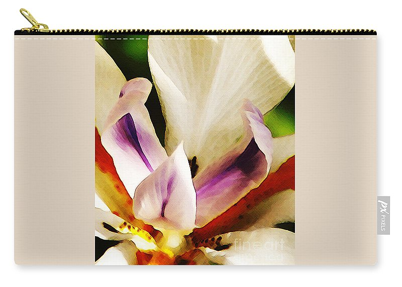 Flower Carry-all Pouch featuring the photograph Gala by Linda Shafer