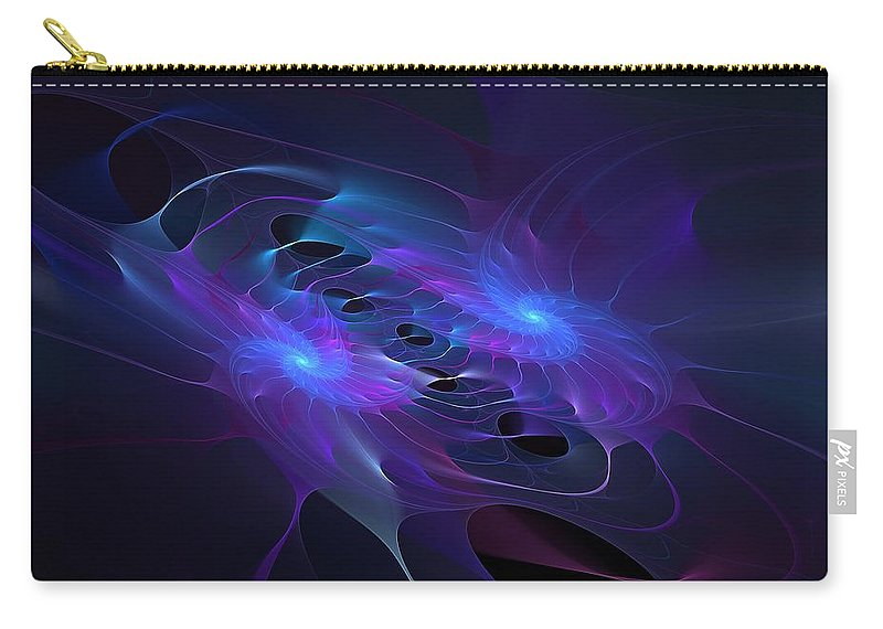 Astronomy Carry-all Pouch featuring the digital art Galactic Duel by Doug Morgan