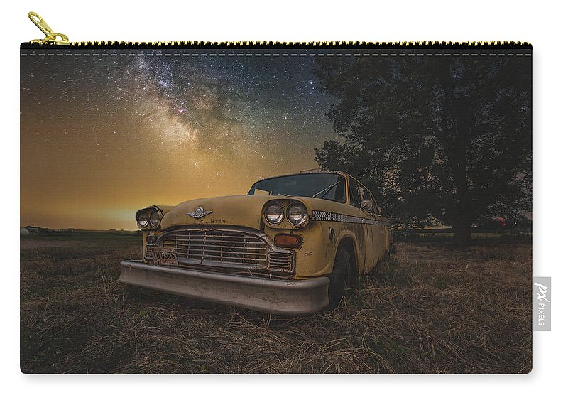 Carry-all Pouch featuring the photograph Galactic Taxi by Aaron J Groen