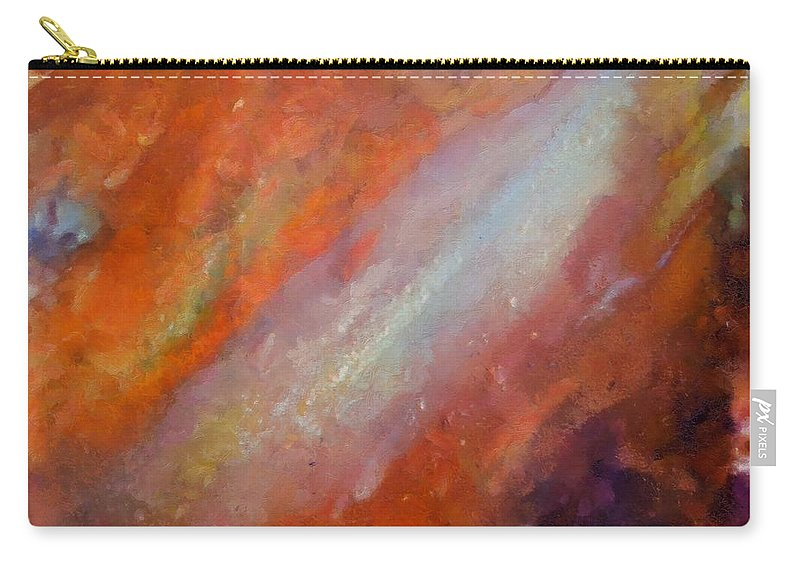 Galaxy Carry-all Pouch featuring the painting Galaxy by Dragica Micki Fortuna