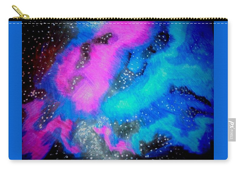Space Carry-all Pouch featuring the drawing Galaxy by Precious Cannon