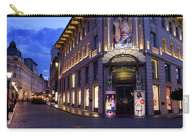 Urbanc House Carry-all Pouch featuring the photograph Gallerija Emporium Luxury Department Store In The Urbanc House O by Reimar Gaertner