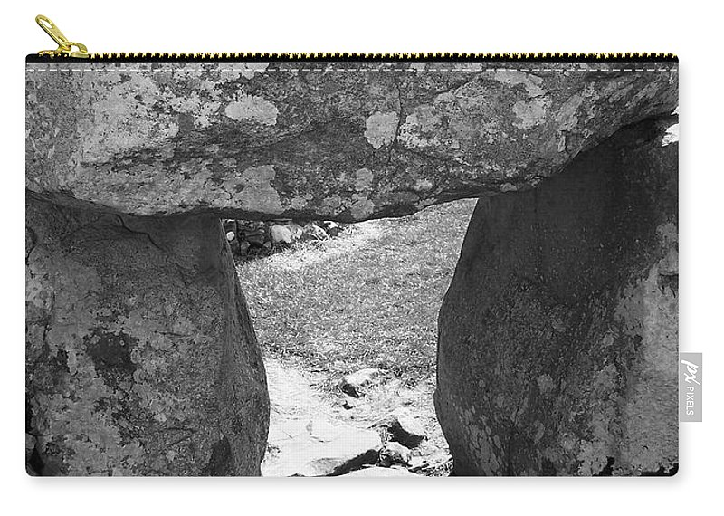 Ireland Carry-all Pouch featuring the photograph Gallery Entrance At Creevykeel Court Cairn Ireland by Teresa Mucha