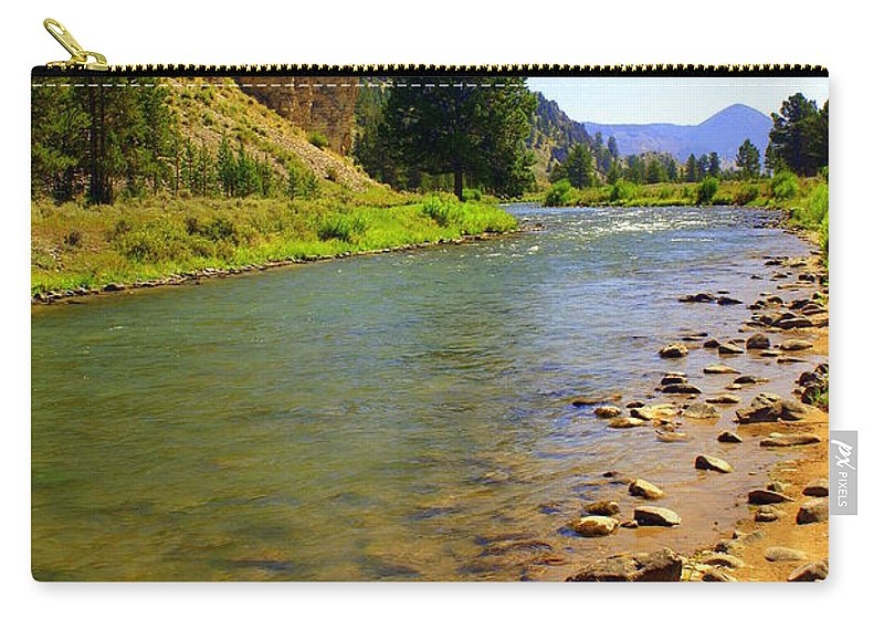 Gallitan River Carry-all Pouch featuring the photograph Gallitan River 1 by Marty Koch