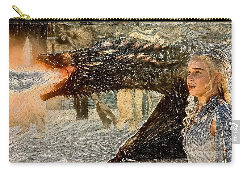 Game Of Thrones Original Oil Painting Saving Mom Painting Poster Canvas Great Gi Carry All Pouch