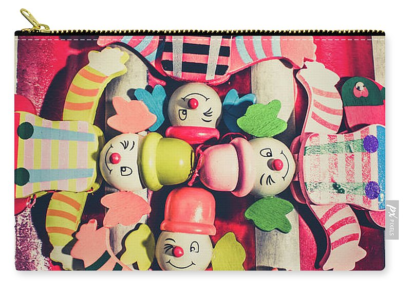 Puppets Carry-all Pouch featuring the photograph Games Room Of Wooden Circus Play by Jorgo Photography - Wall Art Gallery