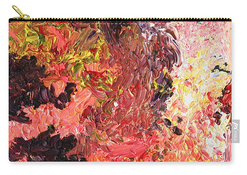 Fusionart Carry-all Pouch featuring the painting Ganesh In The Garden by Ralph White