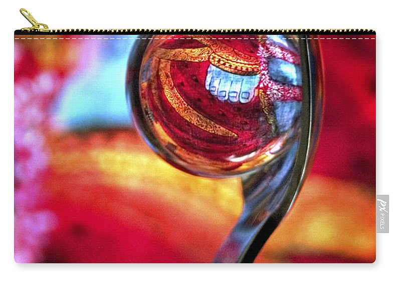 Ball Carry-all Pouch featuring the photograph Ganesh Spoon by Skip Hunt