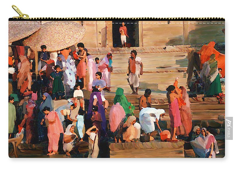 Ganges River Carry-all Pouch featuring the photograph Ganges by Kurt Van Wagner