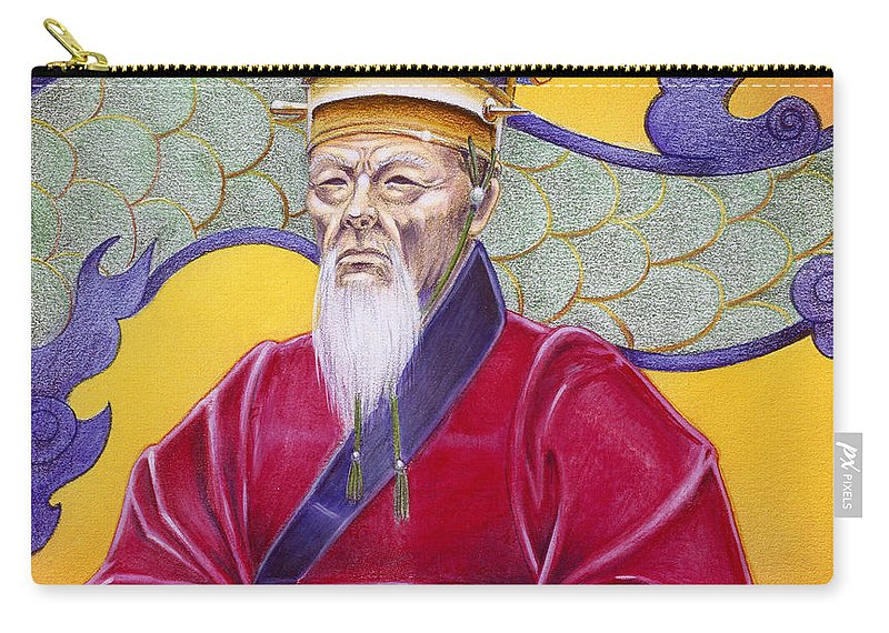 Oriental Carry-all Pouch featuring the painting Gao Zhang by Melissa A Benson