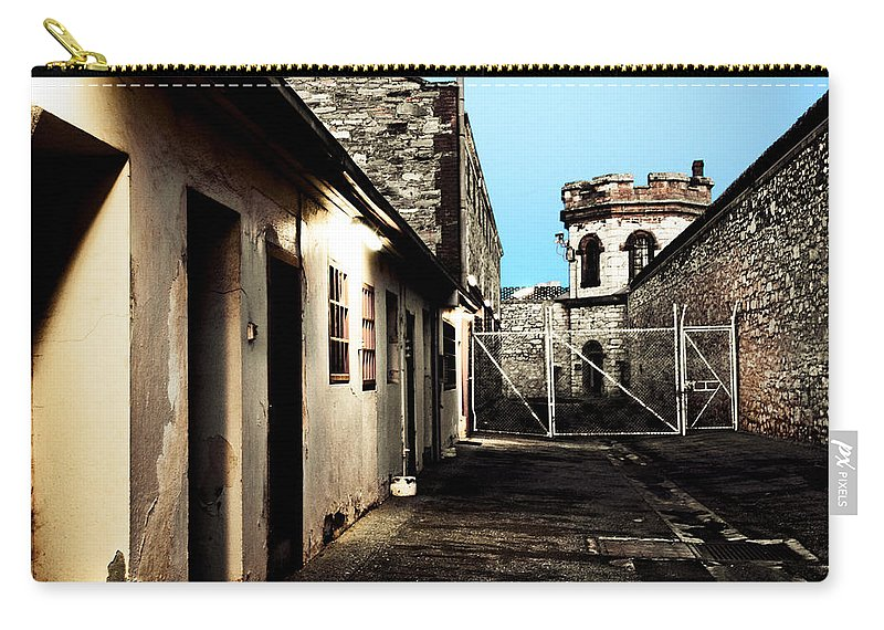 Old Carry-all Pouch featuring the photograph Gaol by Kelly Jade King
