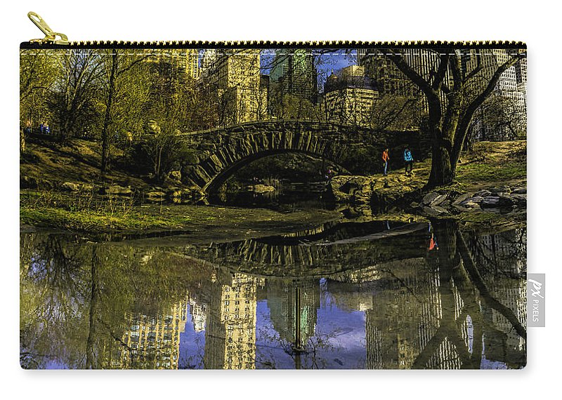 City Carry-all Pouch featuring the photograph Gapstow Bridge In Central Park by Nick Zelinsky