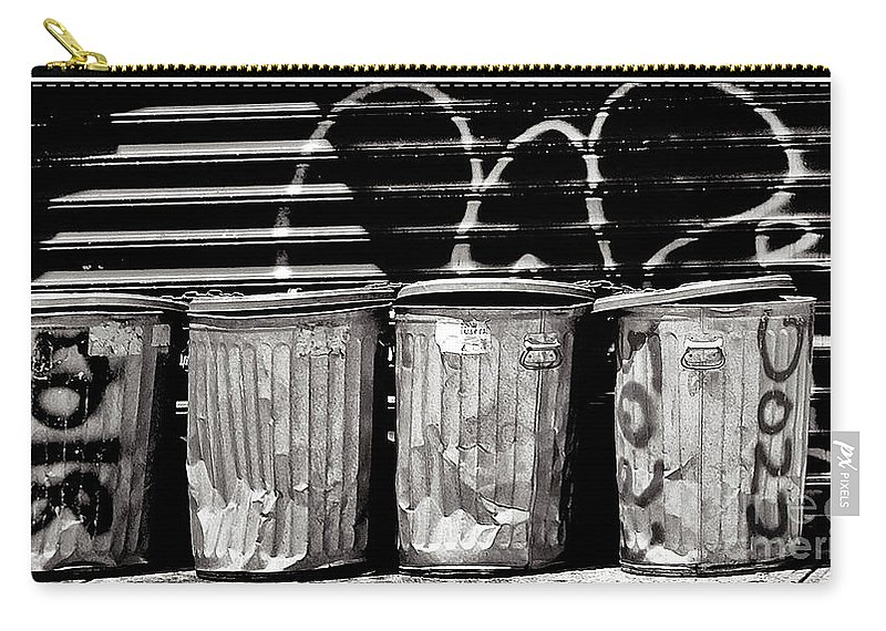 Garbage Carry-all Pouch featuring the photograph Garbage by Madeline Ellis