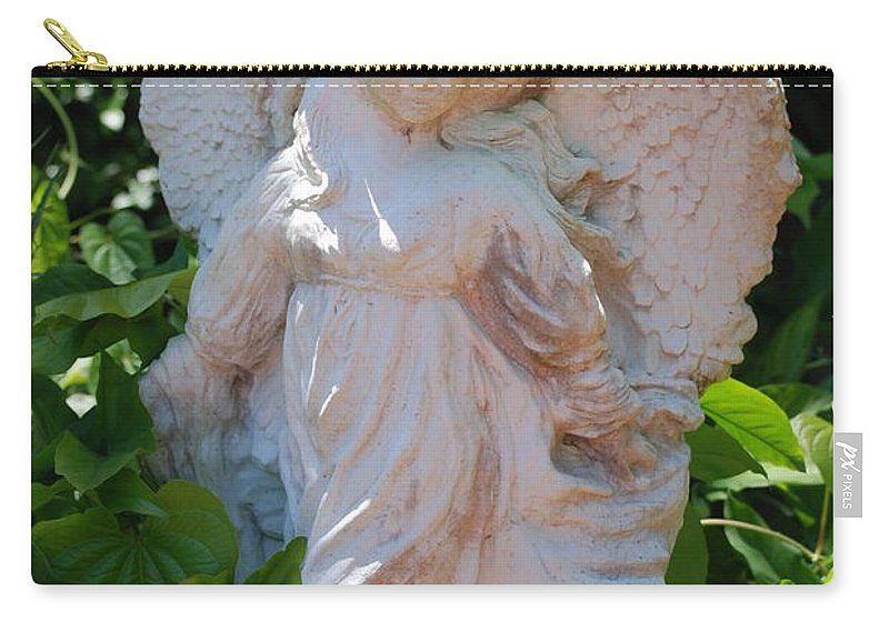 Angels Carry-all Pouch featuring the photograph Garden Angel by Rob Hans