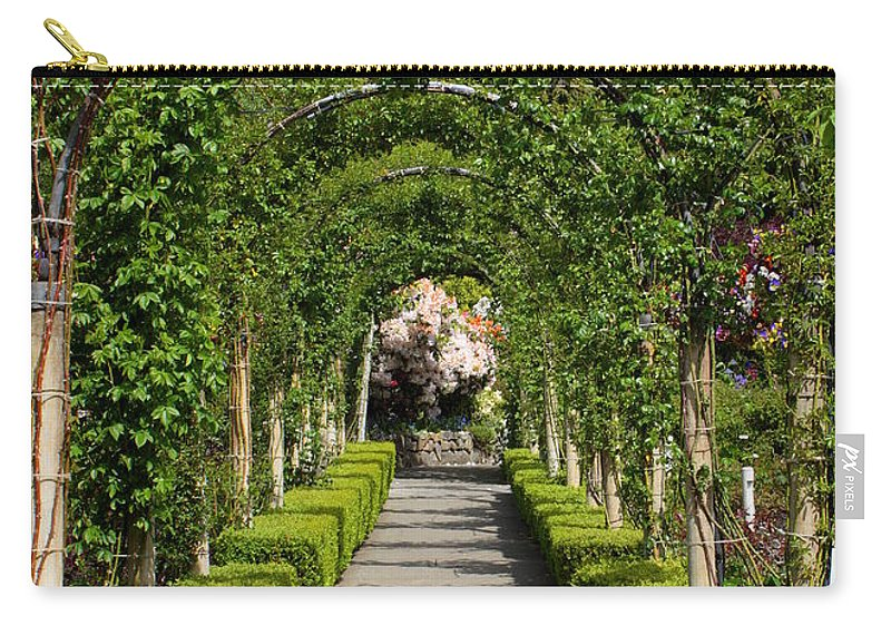 Garden Carry-all Pouch featuring the photograph Garden Arbor Path by Carol Groenen