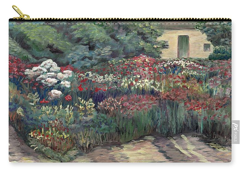 Breck Carry-all Pouch featuring the painting Garden At Giverny by Nadine Rippelmeyer