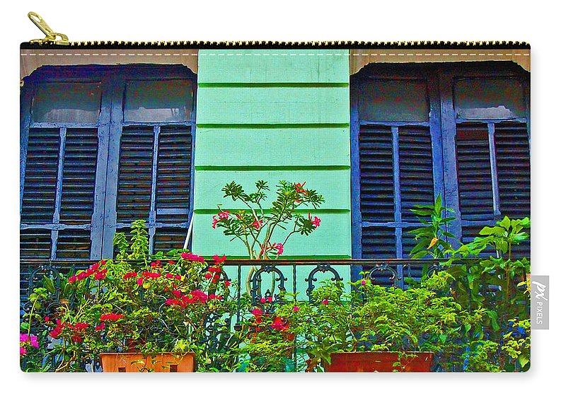 Garden Carry-all Pouch featuring the photograph Garden Balcony by Debbi Granruth