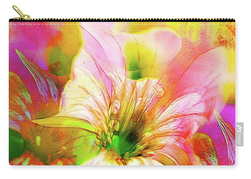 Flowers Carry-all Pouch featuring the photograph Garden Dance by Francine Collier
