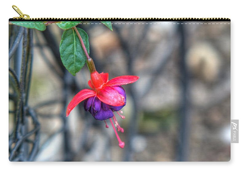 Fuchia Carry-all Pouch featuring the photograph Garden Delight by Douglas Barnett