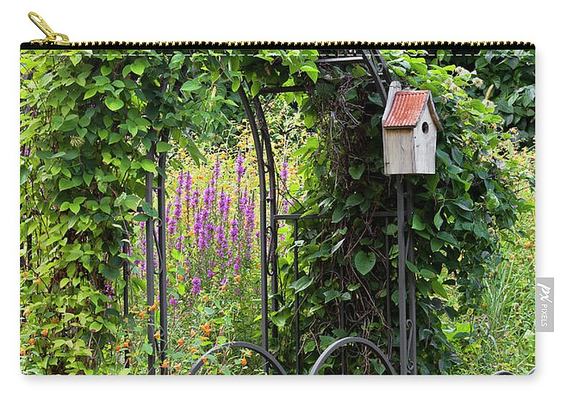 Summer Carry-all Pouch featuring the photograph Garden Entrance by Alan L Graham