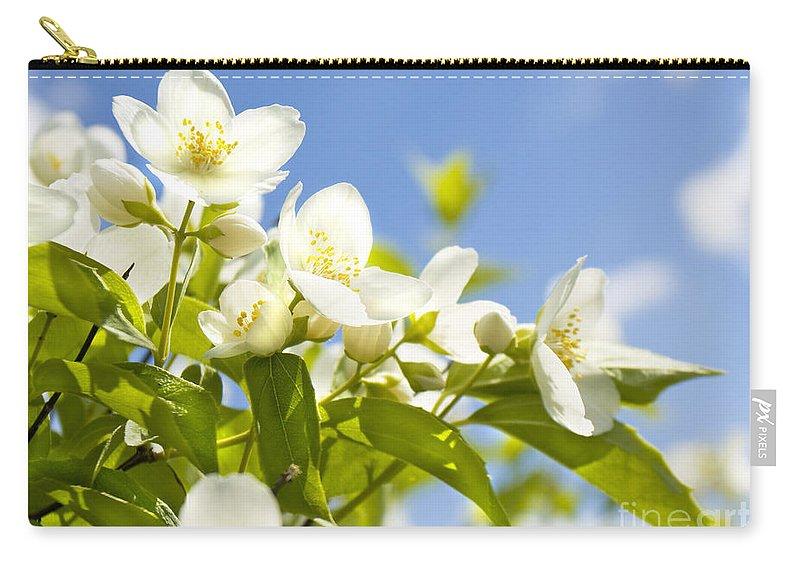 Jasmin Carry-all Pouch featuring the photograph Garden Jasmin by Irina Afonskaya