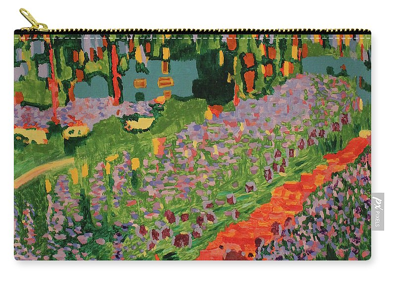 Garden Carry-all Pouch featuring the painting Garden by Jennifer C Griffen