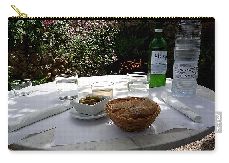 Lunch Carry-all Pouch featuring the photograph Garden Lunch Mallorca by Charles Stuart