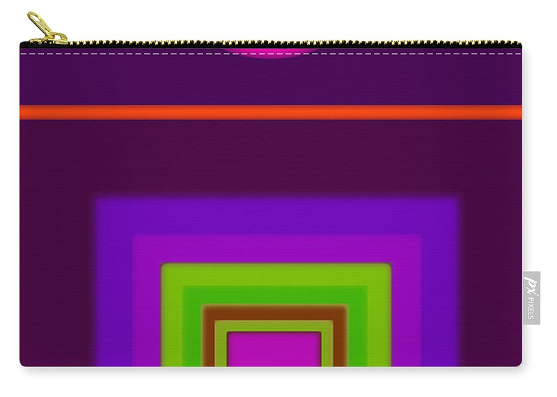 Classical Carry-all Pouch featuring the digital art Garden Mauve by Charles Stuart
