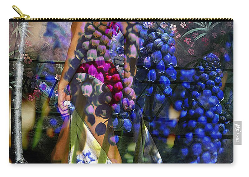 Clay Carry-all Pouch featuring the photograph Garden Nymph by Clayton Bruster